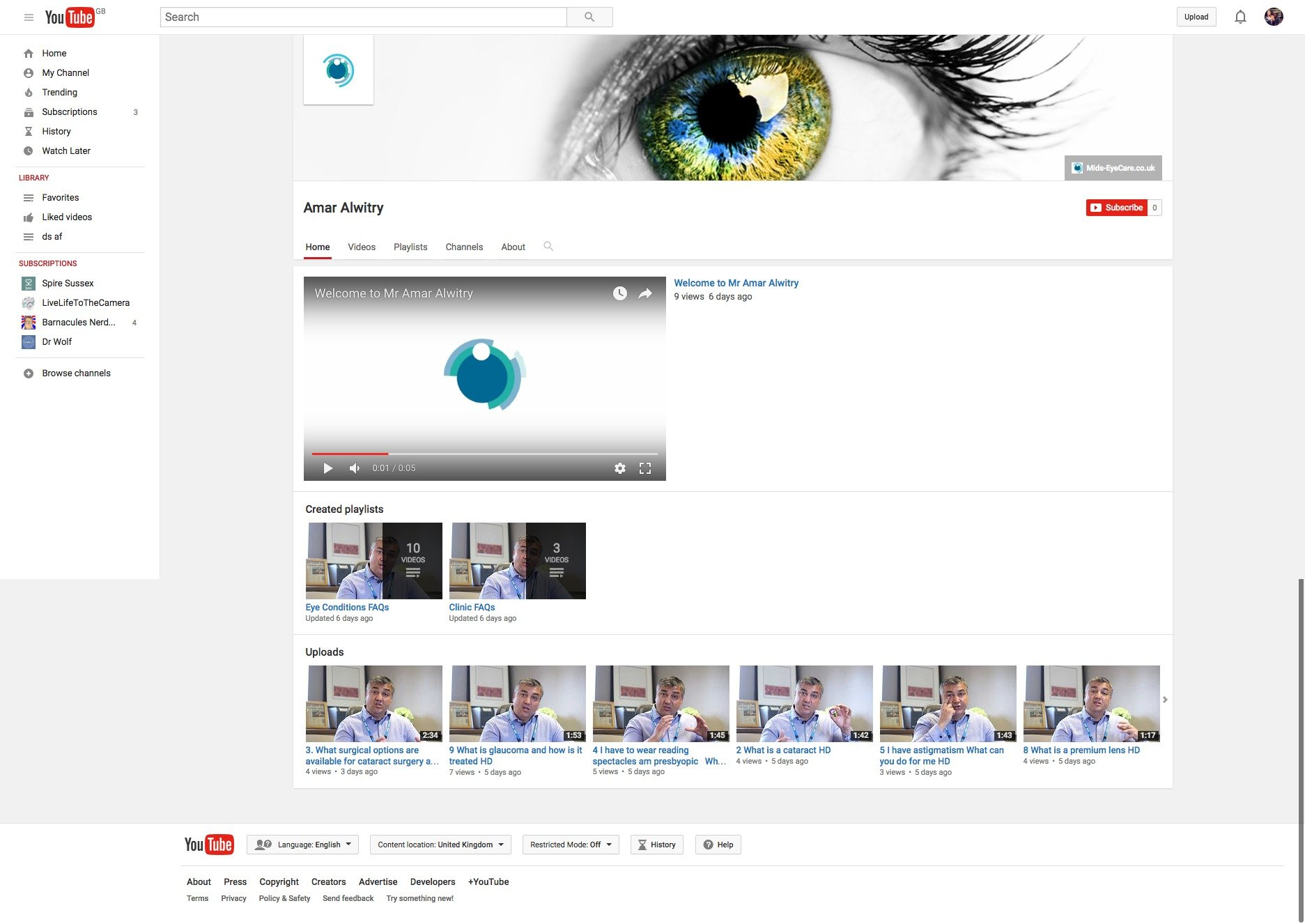 Mr Amar Alwitry healthcare video